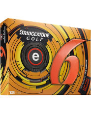 Bridgestone e6 Straight Distance Orange Golf Balls - 12 pack