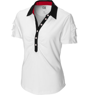 Cutter & Buck Women's Drytec Eva Short Sleeve Polo