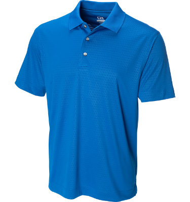 Cutter & Buck Men's Luxe Points Drive Short Sleeve Polo