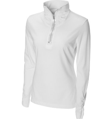 Cutter & Buck Women's Drytec Solar Long Sleeve Mock Neck Shirt