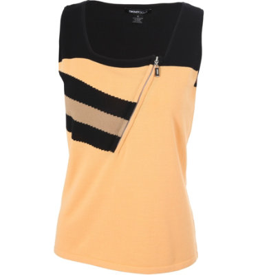 DKNY Women's ½-Zip Sleeveless Sweater Top