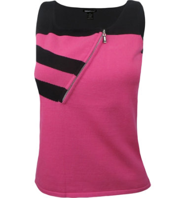DKNY Women's ½-Zip Azalea Sleeveless Sweater Top