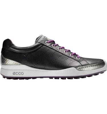 ECCO Men's BIOM Hybrid Golf Shoe - Black/Purple