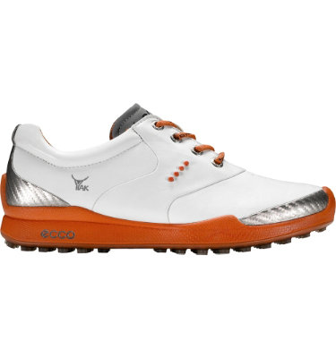 ECCO Women's BIOM Hybrid Golf Shoe - White/Burnt Ochre