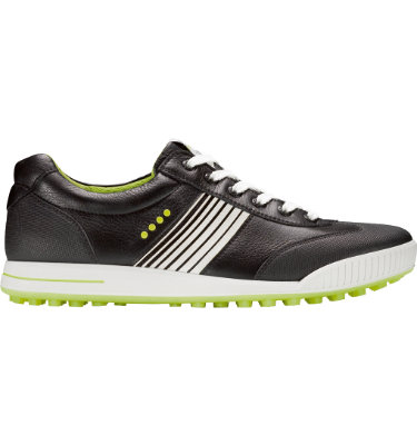 ECCO Men's Golf Street Sport Shoe - Black/Lime