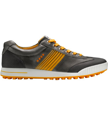 ECCO Men's Golf Street Sport Shoe - Grey/Orange
