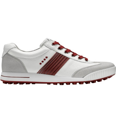 ECCO Men's Golf Street Sport Shoe - White/Grey/Red