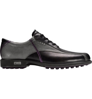 ECCO Men's Tour Hybrid Golf Shoe - Black/Titanium/Imperial Purple
