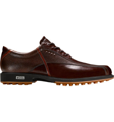ECCO Men's Tour Hybrid Golf Shoe - Bison/Orange