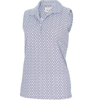 EP Pro Women's Geo Print Sleeveless Polo
