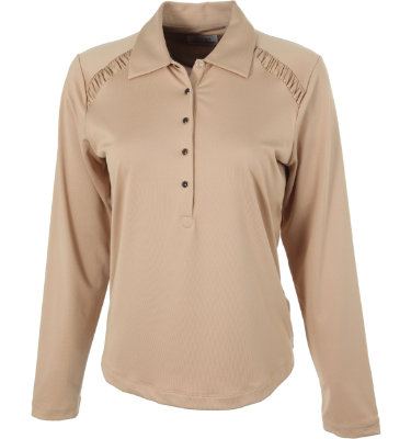EP Pro Women's Ruched Long Sleeve Polo