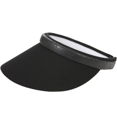 EP Pro Women's Quilted Faux Leather Visor