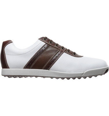 FootJoy Men's Contour Casual Golf Shoe - White/Brown