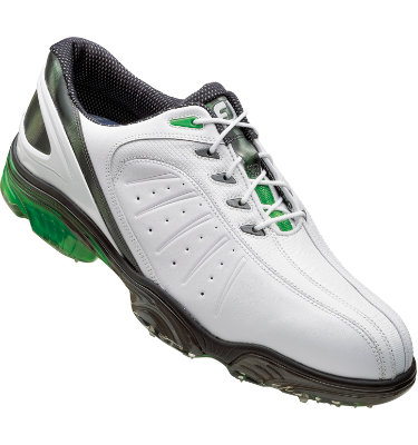 FootJoy Men's FJ Sport Golf Shoe - White Smooth/Green(Disc Style 53271)