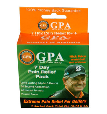 Golf Pain Away 7-Day Pain Relief Pack