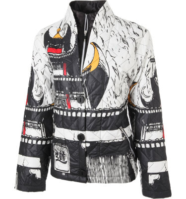 Jamie Sadock Women's Imatron Tapestry Jet Black Long Sleeve Jacket