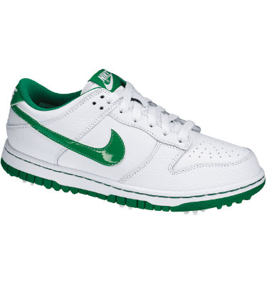 Nike Junior's Dunk NG Golf Shoe - White/Pine Green