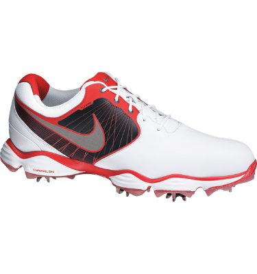 Nike Men's Lunar Control Golf Shoe - White/Reflective Silver/Red
