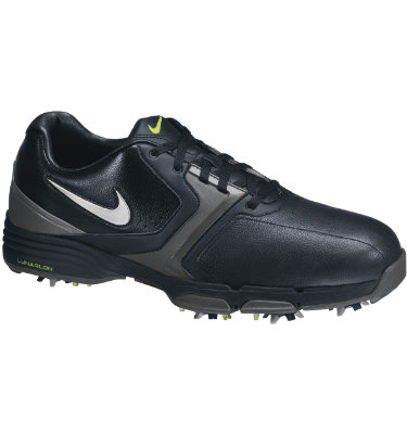 Nike Men's Lunar Saddle Golf Shoe - Black/Silver