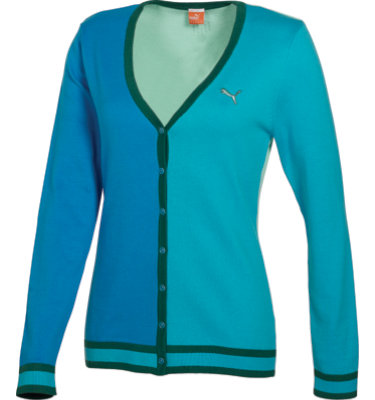 PUMA Women's Color Diva Blue Golf Cardigan