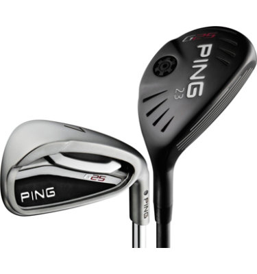 PING Men's G25 Senior Hybrid/Irons - (Graphite/Steel) 3-4H, 5-PW