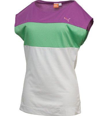PUMA Women's Colorblocked Short Sleeve Top