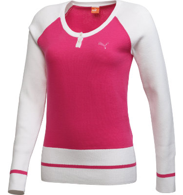 PUMA Women's Golf Henley Long Sleeve Sweater