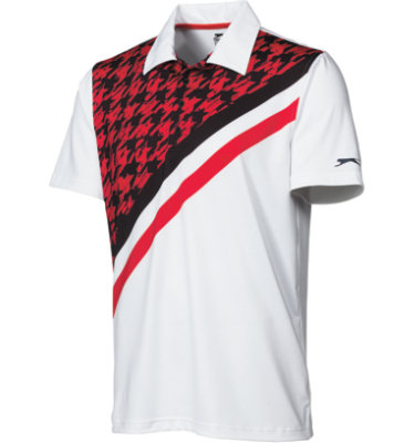 Slazenger Men's Eisern Print Short Sleeve Polo