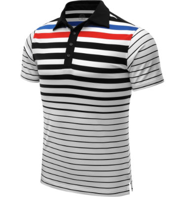 Slazenger Men's Klings Engineered Stripe Short Sleeve Polo