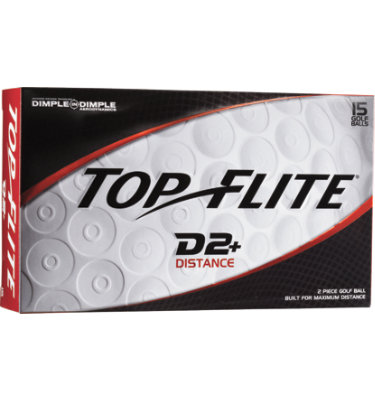 Top Flite D2+ Distance Golf Balls - 15 pack