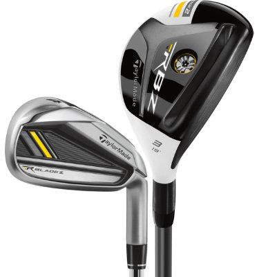 TaylorMade Men's RocketBladez Hybrid/Irons - (Graphite/Steel) 3-4H,5-PW