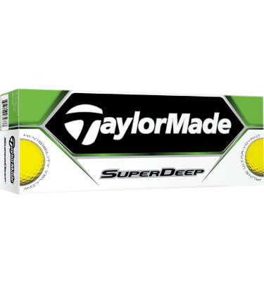 TaylorMade SuperDeep Yellow Golf Balls - 12 pack