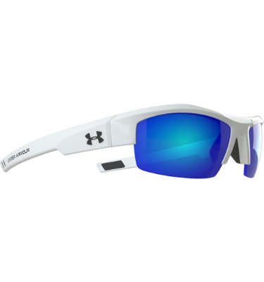 Under Armour Igniter Sunglasses with Blue Multiflection - White