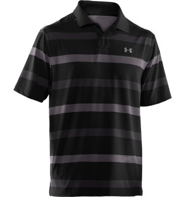 Under Armour Men's Performance Bold Stripe Short Sleeve Polo