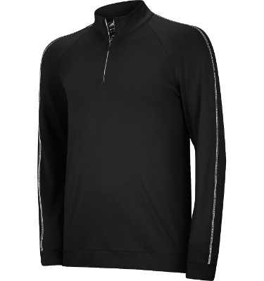 adidas Men's ClimaLite Contrast Stitch Long Sleeve Pullover