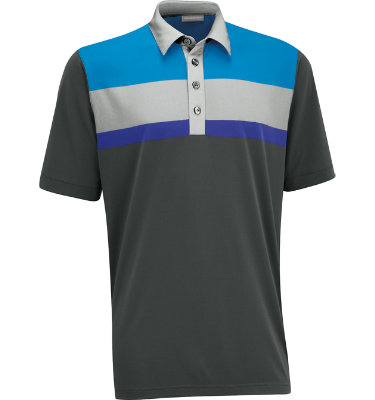 Ashworth Men's Performance EZ-SOF Blocked Short Sleeve Polo