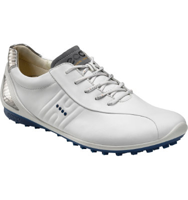 ECCO Men's BIOM Zero Spikeless Golf Shoe - White/Royal