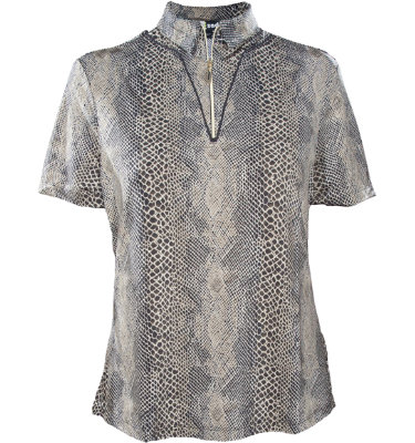 Jamie Sadock Women's Amazonia Animal Print Short Sleeve Polo