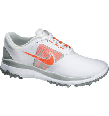 Nike Women's FI Impact Spikeless Golf Shoe - White/Turf Orange