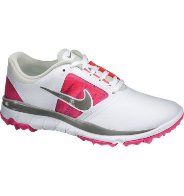 Nike Women's FI Impact Spikeless Golf Shoe - White/Vivid Pink