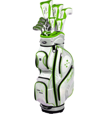 Tour Edge Women's Lady Edge Full Complete Set - White/Lime