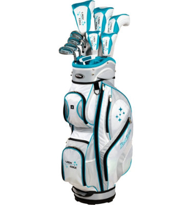 Tour Edge Women's Lady Edge Full Complete Set - White/Teal
