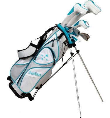 Tour Edge Women's Lady Edge Starter Complete Set - White/Teal