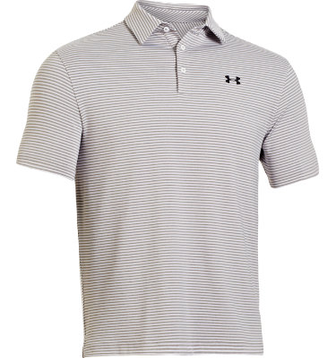 Under Armour Men's Elevated Heather Stripe Short Sleeve Polo
