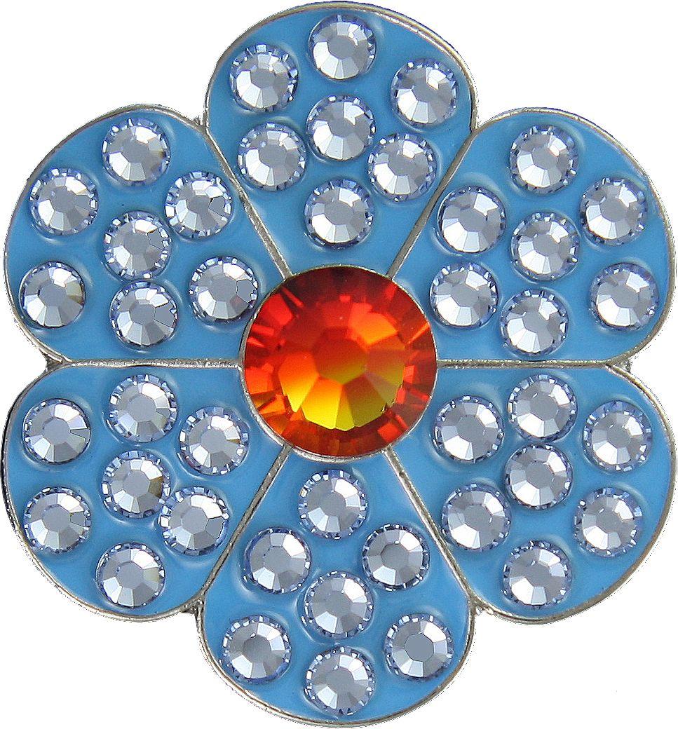 Bella Women's Flower Crystal Hat Clip Ball Marker