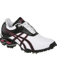 Asics Womens Gel Linksmaster Golf Shoes - White/Raspberry