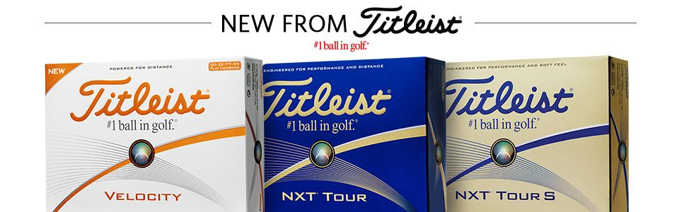 Titleist NXT and Velocity 2016