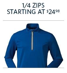 1/4 Zips Start at $24.98