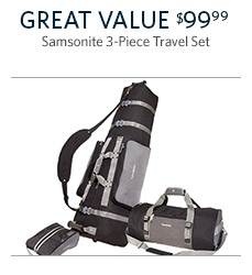 Samsonite Deluxe 3-Piece Golf Travel Set