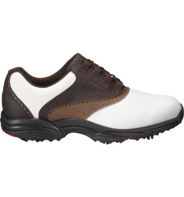 FootJoy Men's GreenJoys Golf Shoe - White/Brown/Chocolate